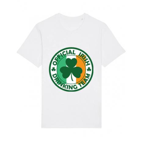 Tricou STANLEY STELLA barbat Irish Drinking Team Alb