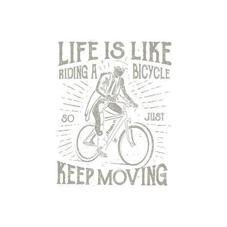 Tricou Life Is Like Riding A Bicycle
