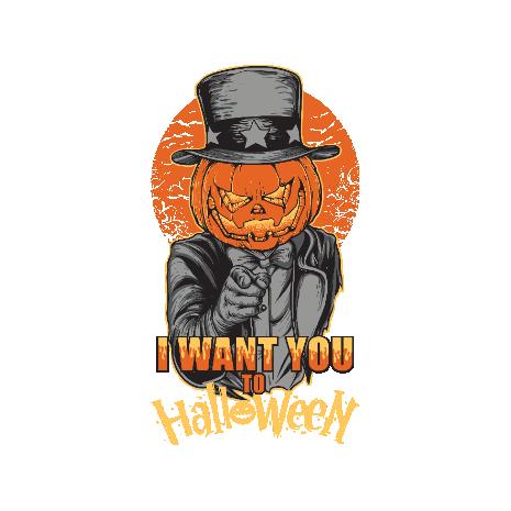 Tricou I want you to halloween