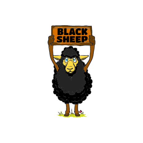 Tricou Black sheep