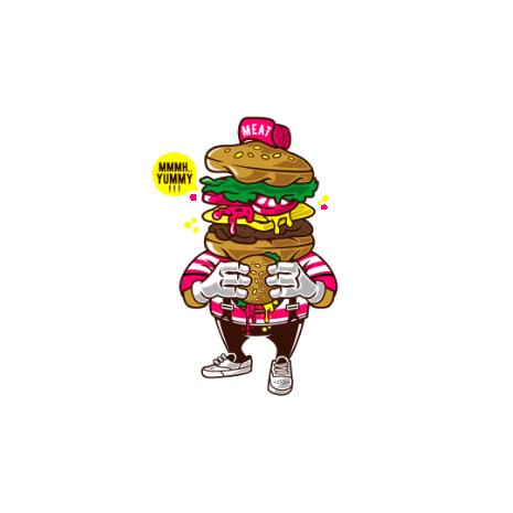 Tricou I Love Burger
