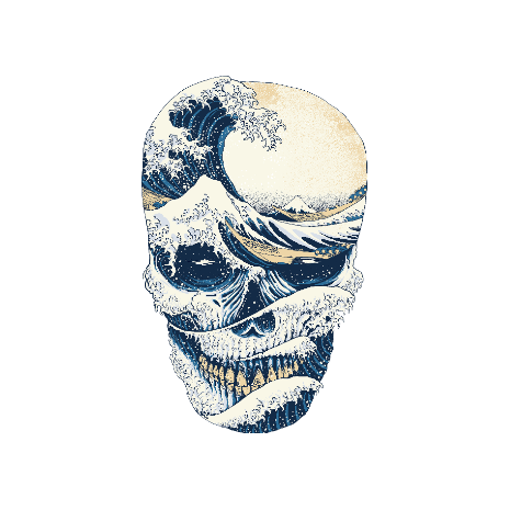 Tricou The Great Wave off Skull