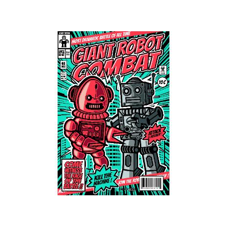 Tricou Giant robot combat
