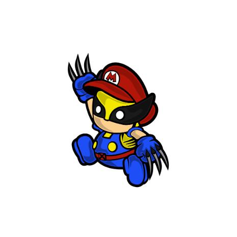 Tricou Mario Wolverine