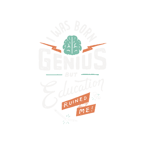 Tricou Born Genius
