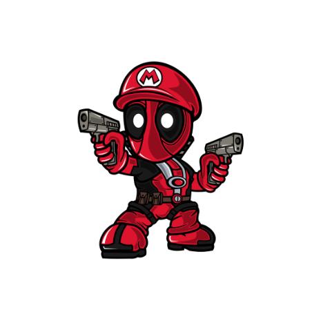 Tricou Mario Deadpool