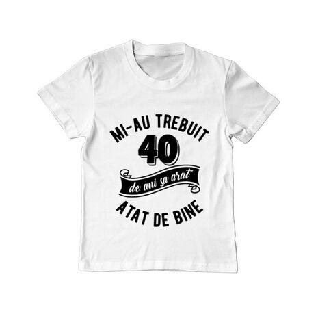 Tricou ADLER copil 40 de ani Alb