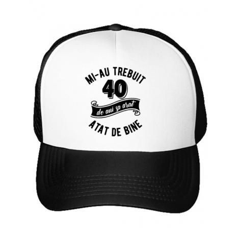 Sapca personalizata 40 de ani Alb