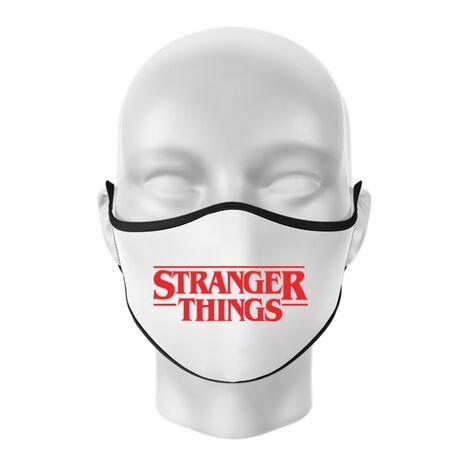 Masca personalizata reutilizabila Stranger things Alb