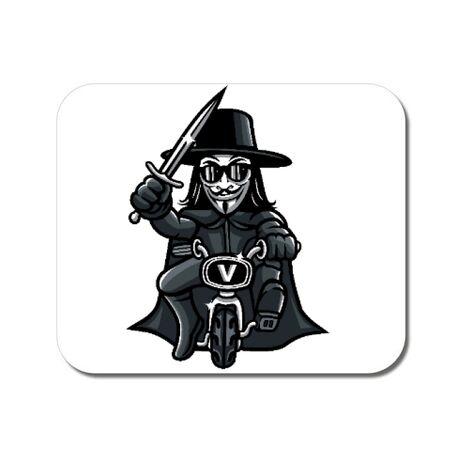 Mousepad personalizat Vendetta Biker Alb