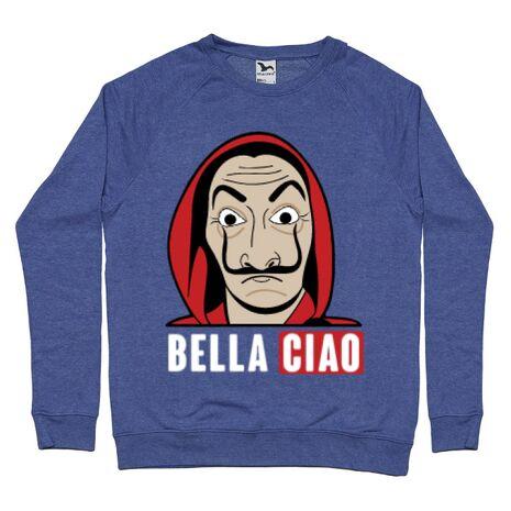Bluza ADLER barbat Bella ciao Albastru melanj