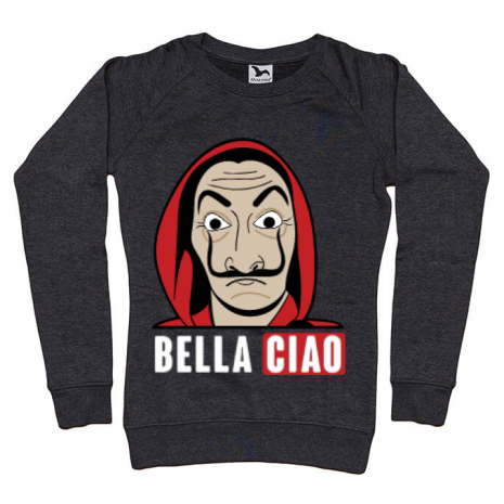 Bluza ADLER dama Bella ciao Negru melanj