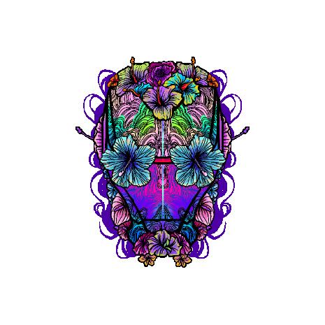 Tricou Flower helmet