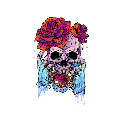 Tricou Hand skull