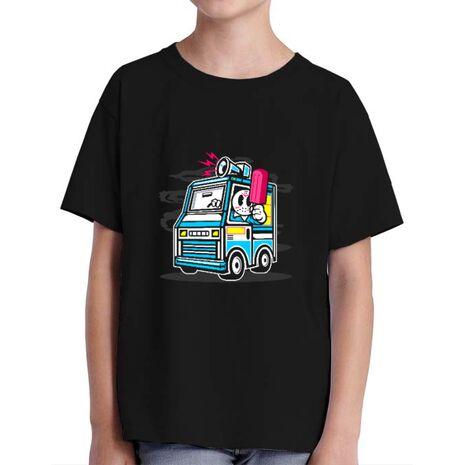 Tricou ADLER copil Ice Cream Truck Negru