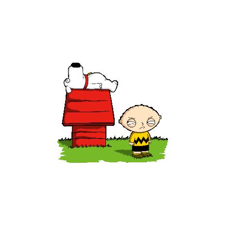 Tricou Stewie and Snoopy