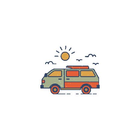 Tricou Retro travel van