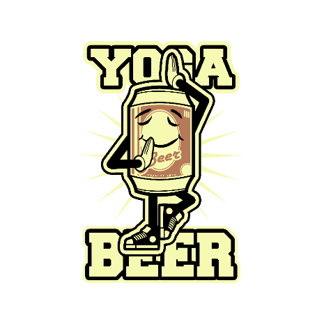 Tricou Yoga beer