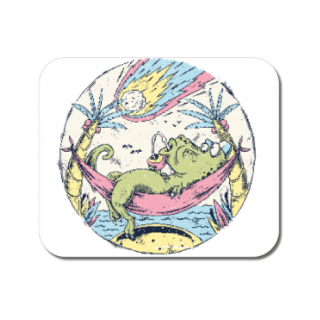 Mousepad personalizat Asteroid Day Alb