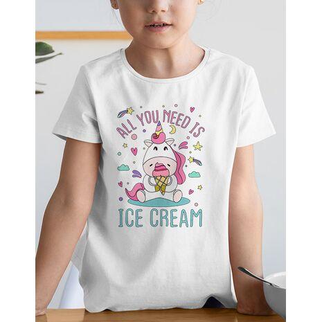 Tricou de colorat All you need is ice cream