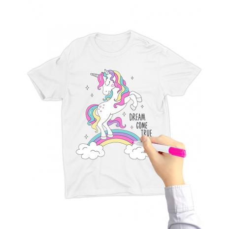 Tricou de colorat Dream come true SET
