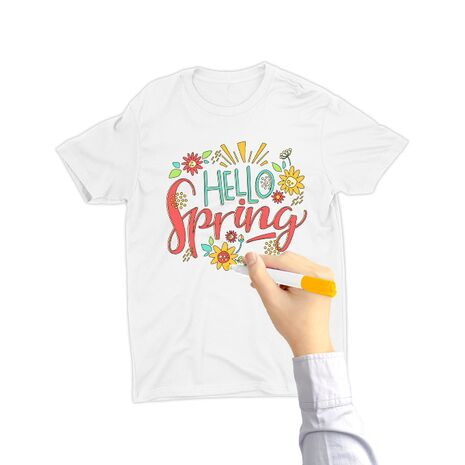 Tricou de colorat Hello spring