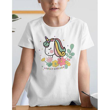 Tricou de colorat Lovely unicorn