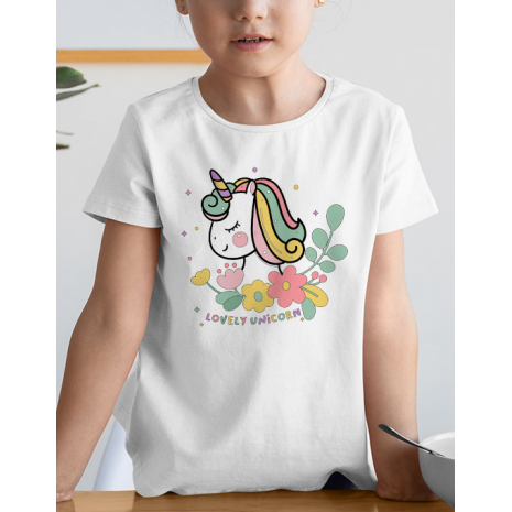 Tricou de colorat Lovely unicorn SET