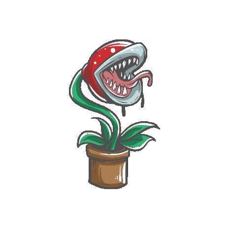 Tricou Zombie plant - Sper Mario