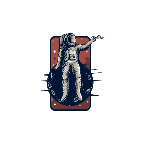 Tricou Astronaut on a planet