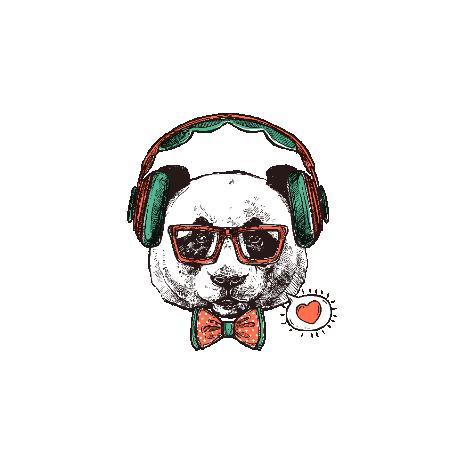 Tricou Hipster panda