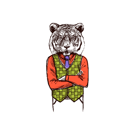 Tricou Hipster tiger