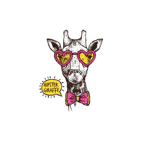 Tricou Hipster giraffe