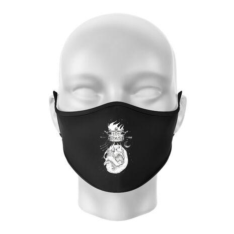 Masca personalizata reutilizabila Flames Negru