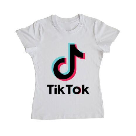 Tricou ADLER dama Tik Tok Alb