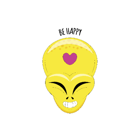 Tricou Alien head - Be happy