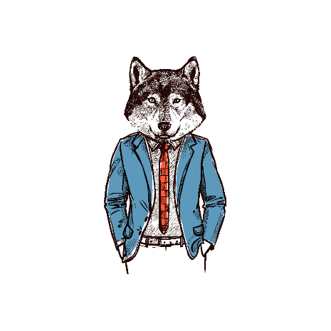 Tricou Hipster Wolf