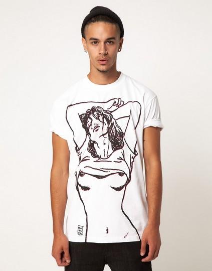 Addict X Milo Manara Collab Strip T-Shirt