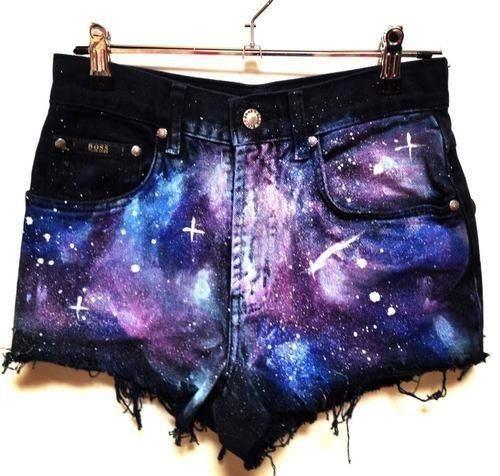 Pantaloni scurti galaxy