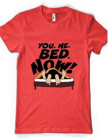 YOU ME BED NOW